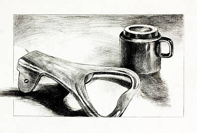 Beer Drawings - Bottle opener and cup  by Ivailo Nikolov by Boyan Dimitrov