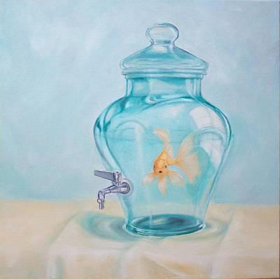 Bottled Up Art Print by Irene Corey