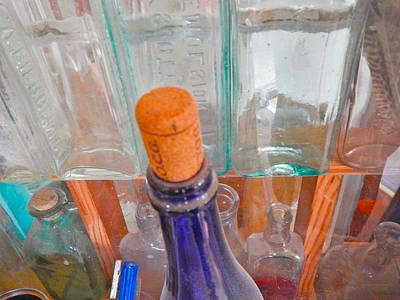 Photograph - Bottles 37 by George Ramos