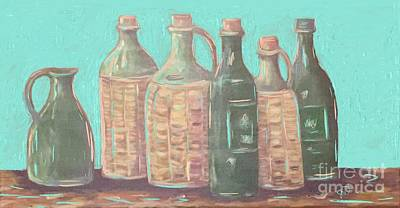 Digital Art - Bottles by Jeanie Watson