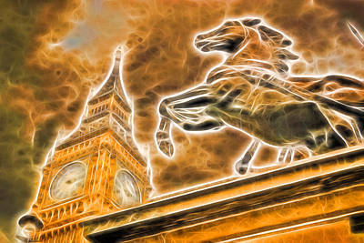 Boudicca Photograph - Boudicca Statue And Big Ben by John Williams