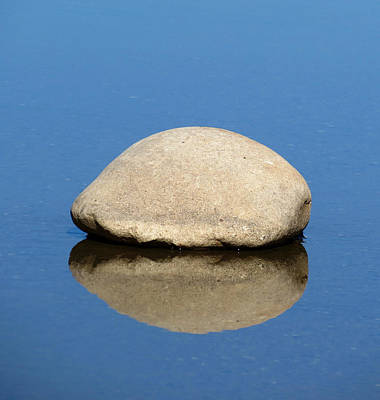 Photograph - Boulder In Blue by Laurel Powell