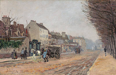 Streetscape Painting - Boulevard Heloise, Argenteuil by Alfred Sisley