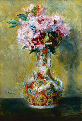 Painting - Bouquet In A Vase by Auguste Renoir