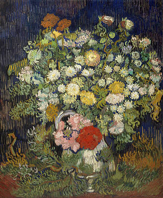 Floral Painting - Bouquet Of Flowers In A Vase by Vincent van Gogh