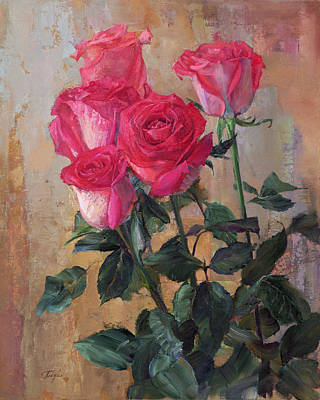 Painting - Bouquet Of Roses by Galina Gladkaya