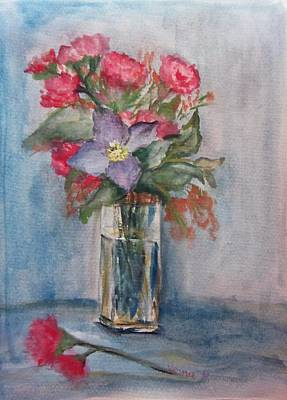 Clematis Painting - Bouquet by Vesna Martinjak