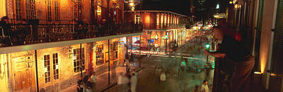 Bourbon Street Photograph - Bourbon Street, French Quarter, New by Panoramic Images