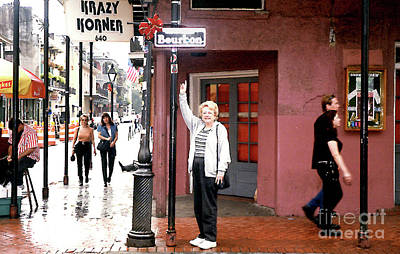 Photograph - Bourbon Street - New Orleans by Merton Allen