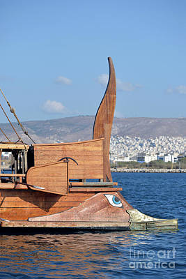 Traditional Photograph - Bow Of A Full Scale Copy Of An Ancient Trireme by George Atsametakis