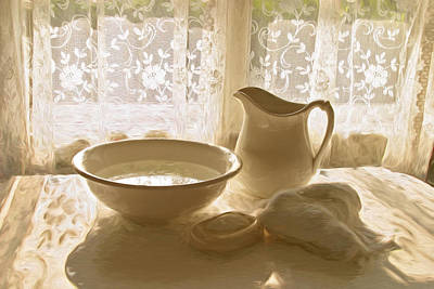 Still Life Photograph - Bowl And Pitcher #2 by George Robinson