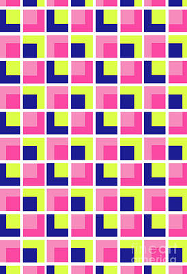 Motif Digital Art - Boxes by Louisa Knight