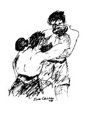 Sports Sketching Drawing - Boxing by Sam Chinkes