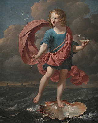 Painting - Boy Blowing Soap Bubbles. Allegory On The Transitoriness And The Brevity Of Life by Karel Dujardin