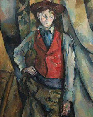 Painting - Boy In A Red Waistcoat by Paul Cezanne