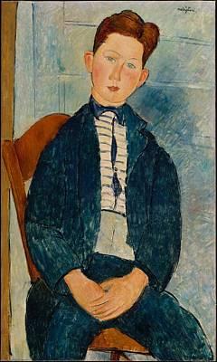 Boy In A Striped Sweater Original by Amedeo Modigliani