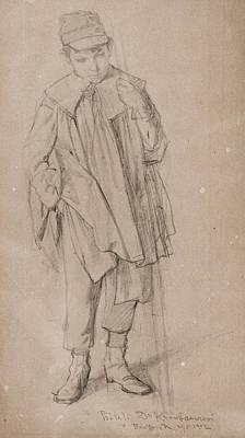 Barton Painting - Boy Standing by Bartonek