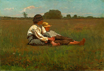 Winslow Homer Painting - Boys In A Pasture by Winslow Homer