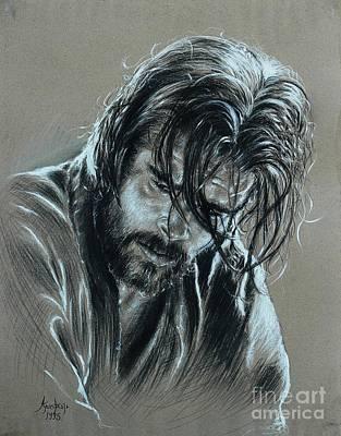 Brad Pitt Art Print by Anastasis  Anastasi