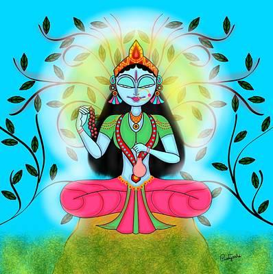 Parvati Painting - Brahmacharini by Pratyasha Nithin