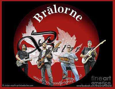 Photograph - Bralorne - The Band by Vivian Martin