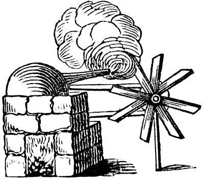 Steam Turbine Wall Art - Photograph - Branca Steam Engine, 17th Century by Science Source
