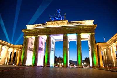 Digital Art - Brandenberg Gate Festival Of Light by Nathan Wright