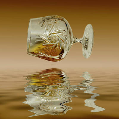 Photograph - Brandy Decanter Glass by David French
