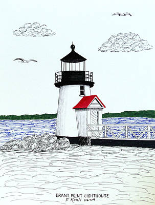 Brant Point Lighthouse Art Print by Frederic Kohli