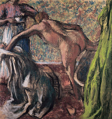 Retro Portret Painting - Breakfast After The Bath  by Edgar Degas