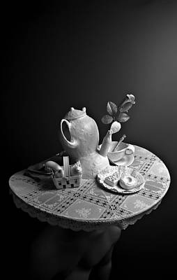 Mad Hatter Photograph - Breakfast For Alice  by Stasha Chimbur