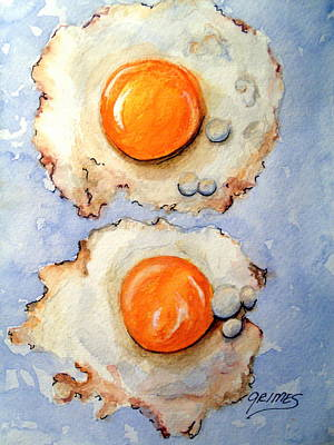 Painting - Breakfast Is Ready #2 by Carol Grimes