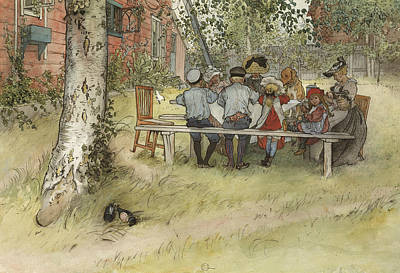 Painting - Breakfast Under The Big Birch. From A Home by Carl Larsson