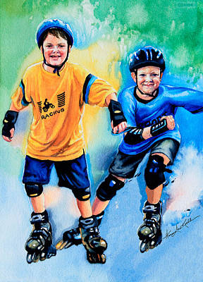 Action Sports Art Painting - Breaking Away by Hanne Lore Koehler
