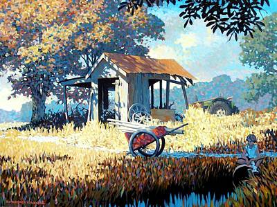 Shed Painting - Breaktime by Kevin Lawrence Leveque