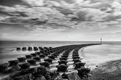 Protection Photograph - Breakwater by Martin Newman