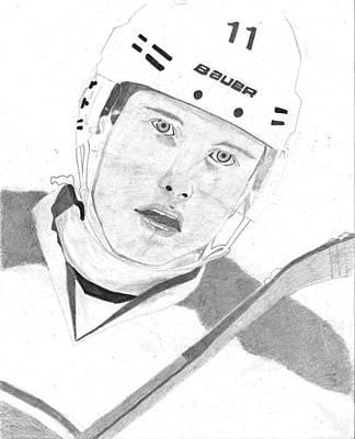 Canadiens Drawing - Brendan Gallagher by Andre Kominik