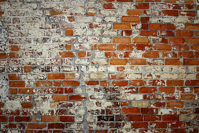 Brick Wall Print by Les Cunliffe
