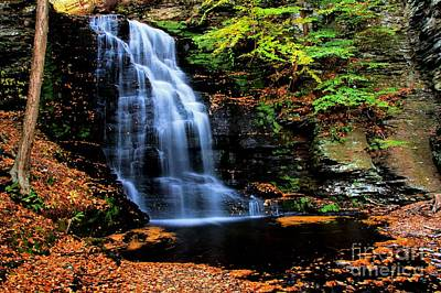 Photograph - Bridal Veil Falls In Autumn by Matthew Winn