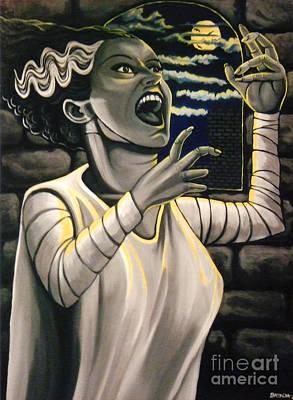 Painting - Bride Of Frankenstein by Brenda Kato