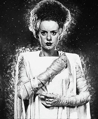 Digital Art - Bride Of Frankenstein by Taylan Apukovska