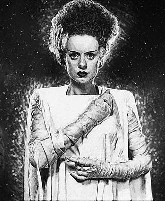 Bride Of Frankenstein Art Print by Taylan Apukovska