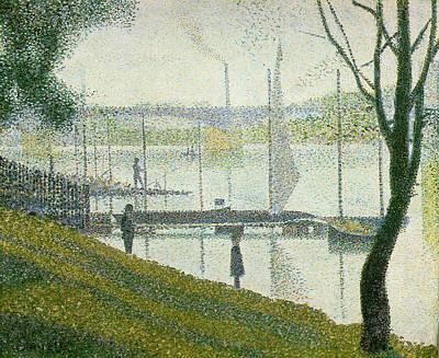 Bridge At Courbevoie Art Print by Georges Seurat