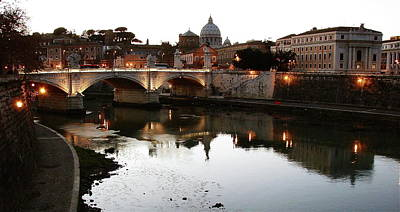 Photograph - Bridge In Rome by Brett Winn