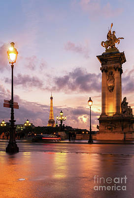 Photograph - Bridge Of Alexandre IIi And Eiffel Tower by Anastasy Yarmolovich