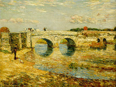Painting - Bridge Over The Stour by Childe Hassam