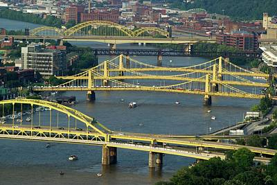 Roberto Photograph - Bridges Of Pittsburgh by Frozen in Time Fine Art Photography