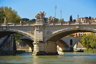 Photograph - Bridges Of The River Tiber by JAMART Photography