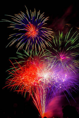 Photograph - Bright Fireworks by Garry Gay