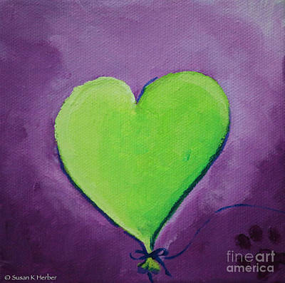 Painting - Bright Heart by Susan Herber